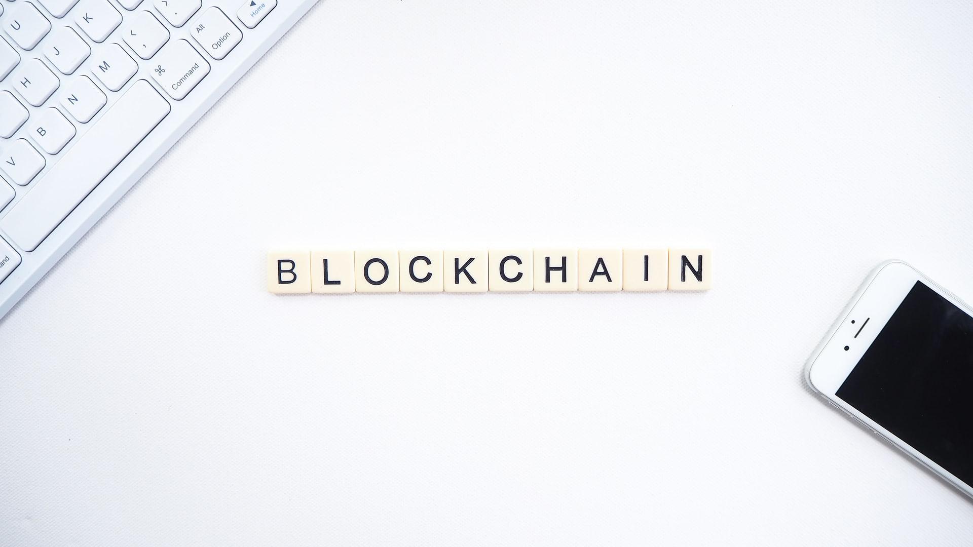 Blockchain Schriftzug