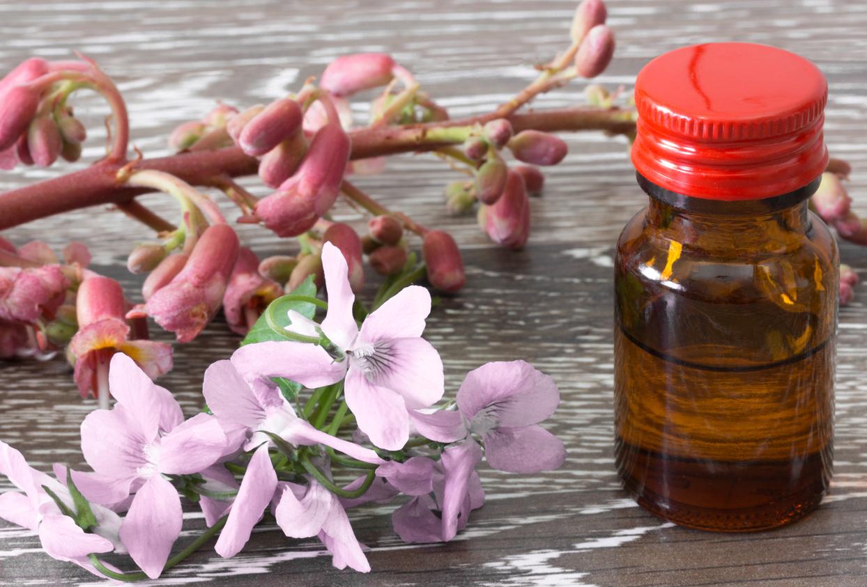 Bachblüten mit Essenz im Fläschchen